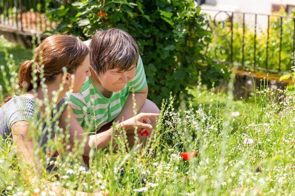 People enjoying a garden